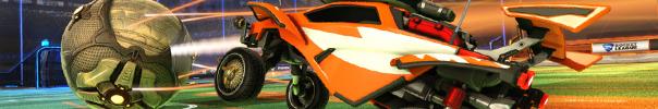 Rocketleague, ein Racer kurz vorm Abschuss