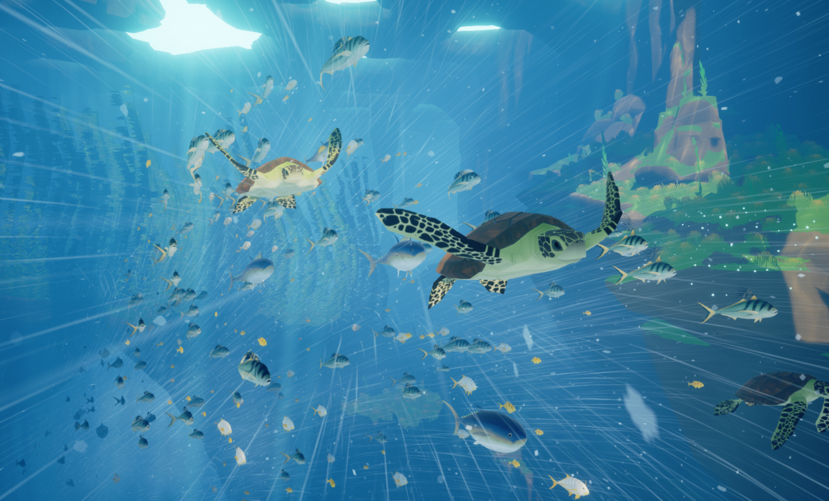 ABZÛ Strömung Schildkröten