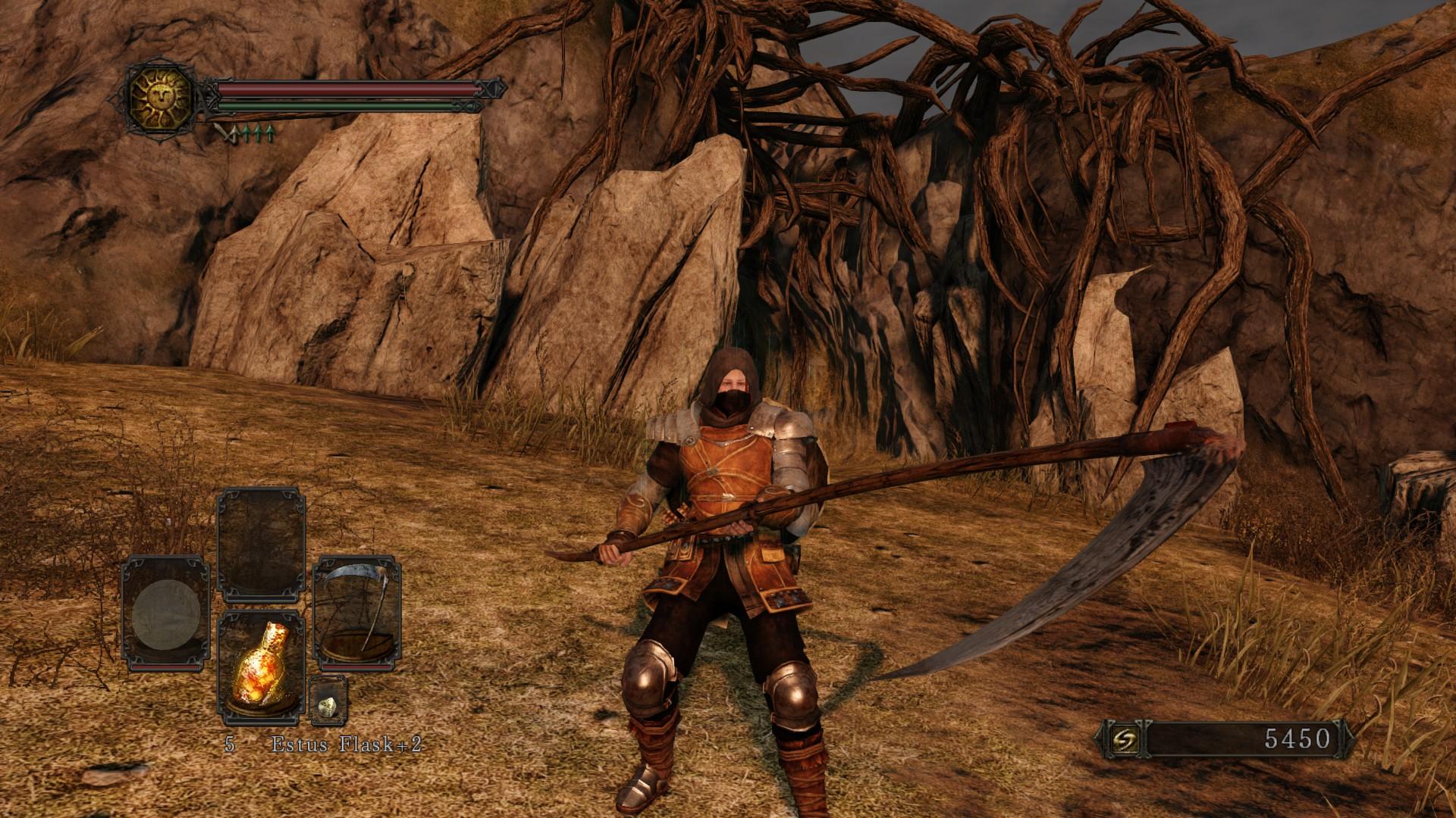 Dark Souls - Spielercharacter mit Sense
