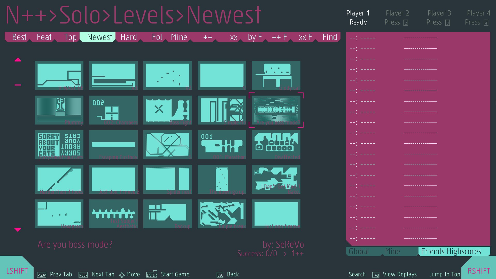 N++ Levelauswahl