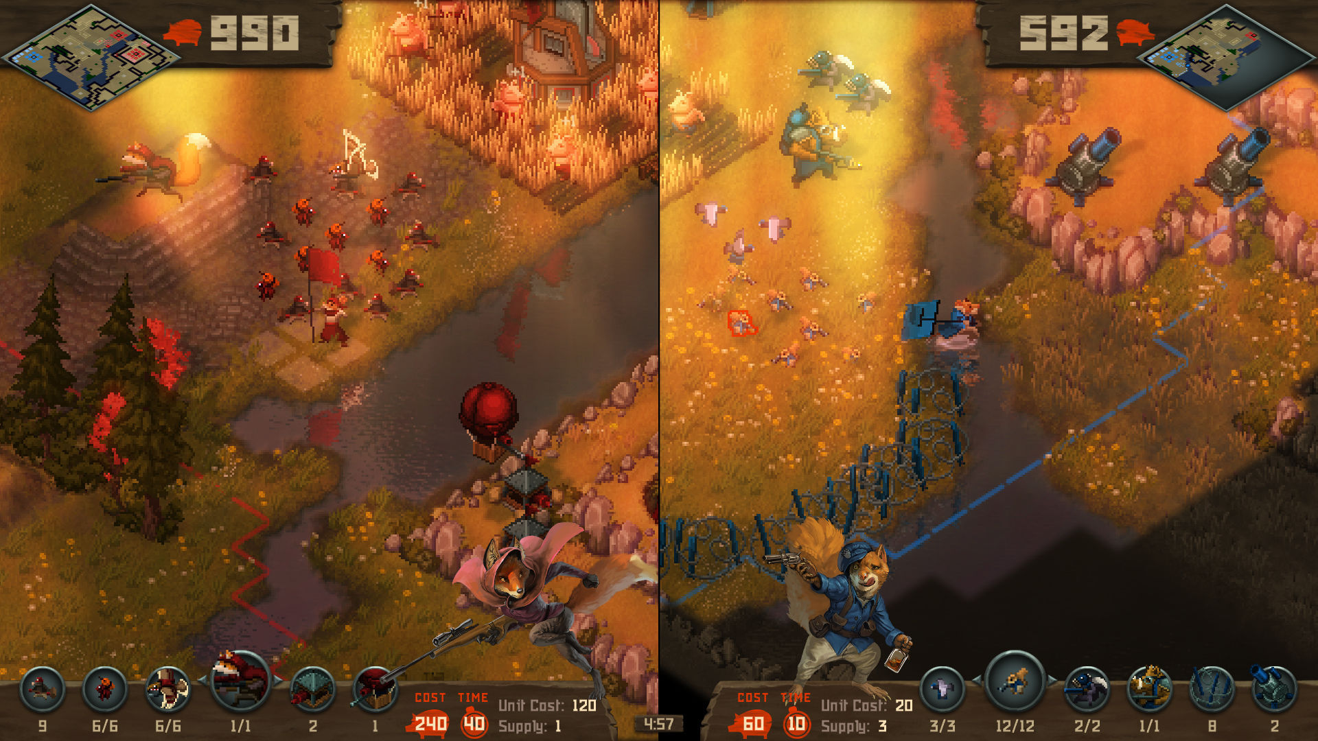 Tooth and Tail Splitscreen