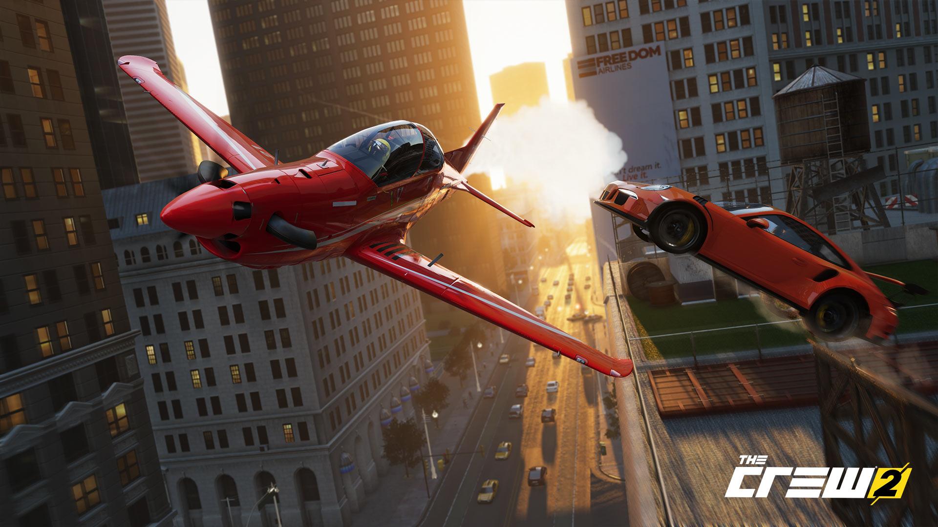 The Crew 2 Flugzeug Stadt